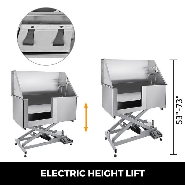 Electric Lift Dog Washing Tub with High Pressure Sprayer  3
