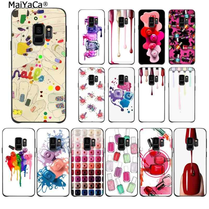 MaiYaCa Art Multicolored Nail Polish Bottle Set Phone Cover for Samsung S9 plus S5 S6 edge plus S7 edge S8 plus S10 E S10 plus