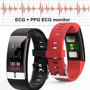 Image 4 - Temperatura del corpo del Monitor Intelligente Banda ECG PPG Wristband Heart Rate Orologio Intelligente di Pressione Sanguigna Misura di Forma Fisica di Sport Del Braccialetto