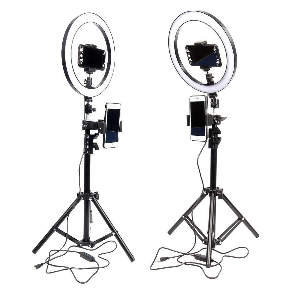 Dimmable Led Ring Light Photography Lighting 6 10 Lamp Studio Ring Selfie Light For Video Youtube Photo Makeup Light Tripod Photographic Lighting Aliexpress