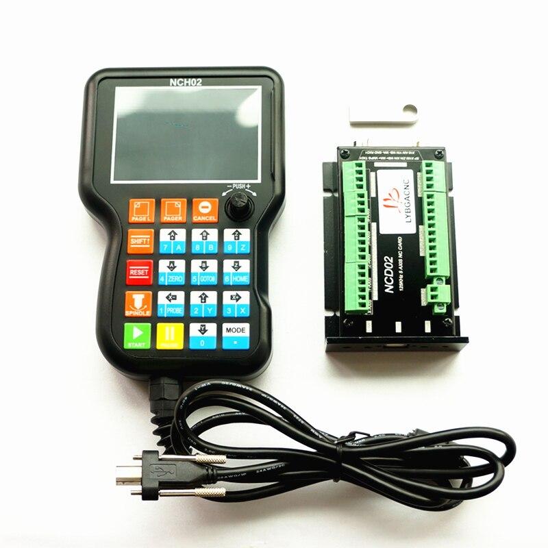 NCD02 3 4 5 axes DSP manuel CNC de poche contrôleur panneau de commande g-code système de contrôle de mouvement hors ligne