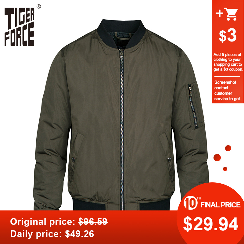 Tiger Force Men Bomber Jacket Men's Spring Jacket Windbreaker Fashion Camouflage Men Coat Army Military Male Outerwear Plus Size