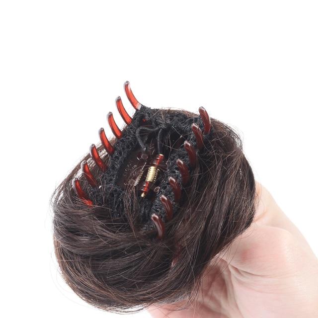 Allaosify Women Donut Chignon Hair Bun Donut Clip In Hairpiece Extensions Synthetic Hair Extensions High Temperature Curly Bun