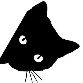 Creative Black Cat Face Peeking Car Stickers Automotive Decal Window Decoration Reflective Sticker Window Door Sticker