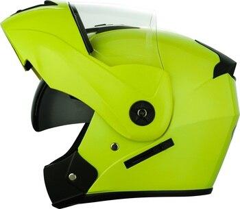 2 Gifts Unisex Racing Motorcycle Helmets Modular Dual Lens Motocross Helmet Full Face Safe Helmet Flip Up Cascos Para Moto kask 25