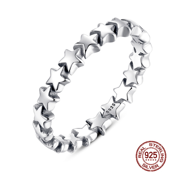 WOSTU Hot Sale 100% 925 Sterling Silver Styles Stackable Ring Party Finger Wedding Rings For Women Original Fashion Jewelry Gift 2