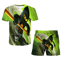 Summer Ninja Tshirts Suits Boys 4-14 Years Old T Shirt Children's Clothing Sets & Shorts 2 Pieces Sets Girls Boys Clothes Pants