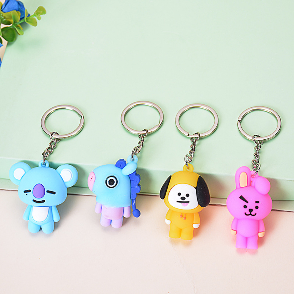 2019 Cartoon Keychains Band Member Personalized Cute Cartoon Key Chains For Women Jewelry Key Ring Bag Car Pendant Accessories