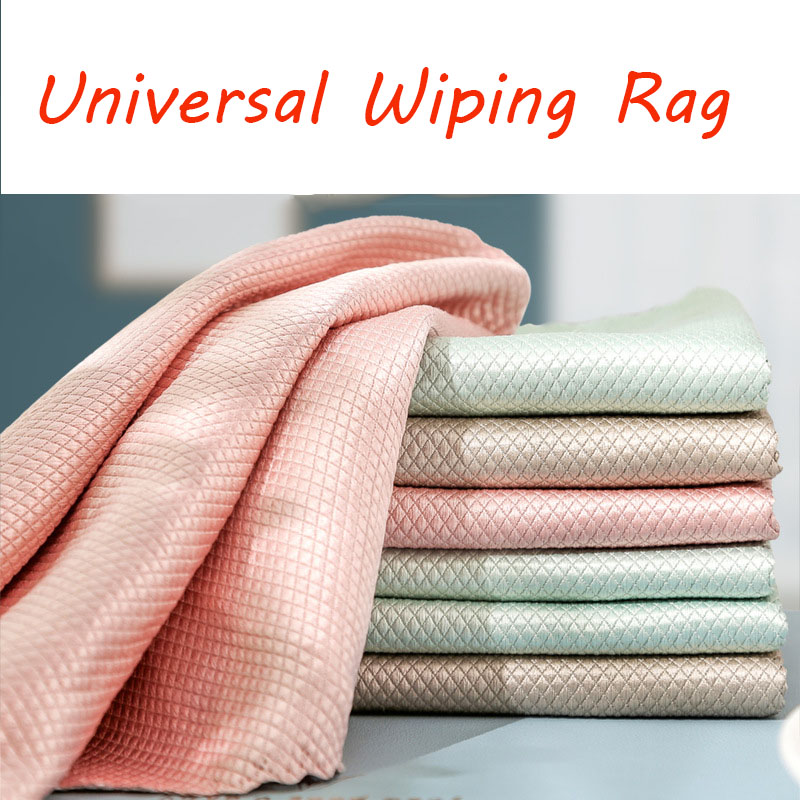 2021 Efficient Microfiber Fish Scale Wipe Cloth Anti grease Wiping Rag Super Absorbent Home Washing Dish Kitchen Cleaning Towel