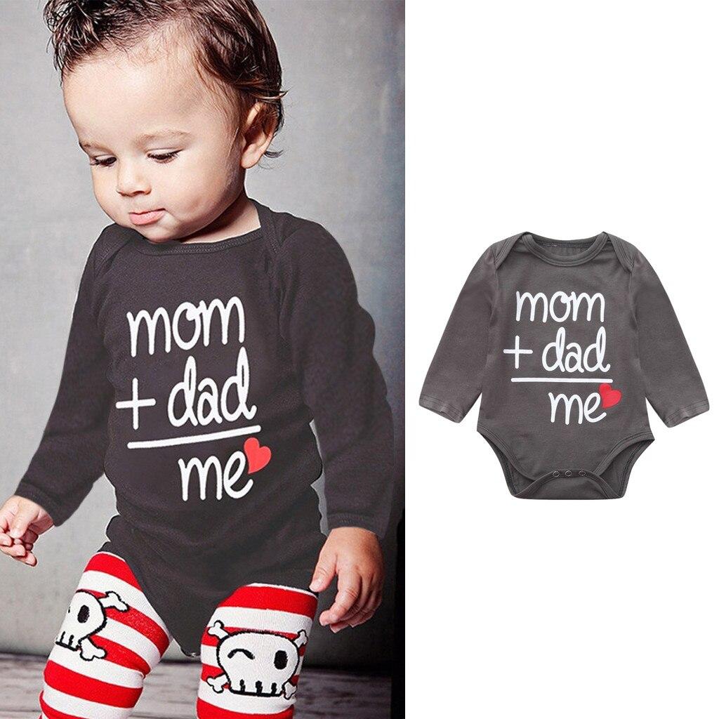 Baby Bodysuit Long Sleeve Baby Body Neonato Clothes Baby Girl Onesie Funny Bodies Bebe Algodon Body Dla Dziewczy Letter 6-24m Z5