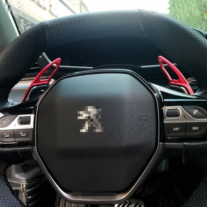 ForPeugeot <font><b>5008</b></font> 3008 <font><b>GT</b></font> 508 L 2018 2019 2020 Car Steering Wheel Shift Paddles Shift Lever Auto Decoration Interior Accessories image