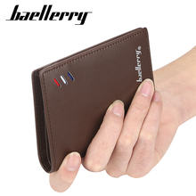 Baellerry Men PU Leather Luxury Brand Wallet Short Slim Male Purses Money Clip Credit Card Dollar Price Portomonee Carteria