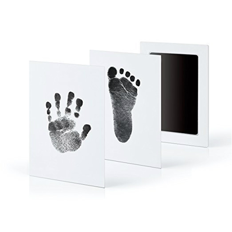 Baby Souvenirs Casting Newborn Footprint Ink Pad Infant Clay Toy Gifts Baby Care Non-Toxic Baby Handprint Footprint Imprint Kit
