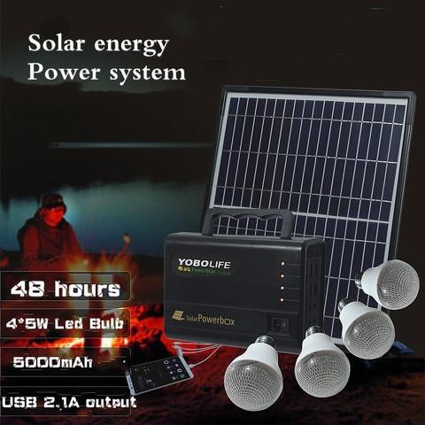 luzes solares 12v 2 1a carregamento do telefone pequeno sistema de energia solar de iluminacao