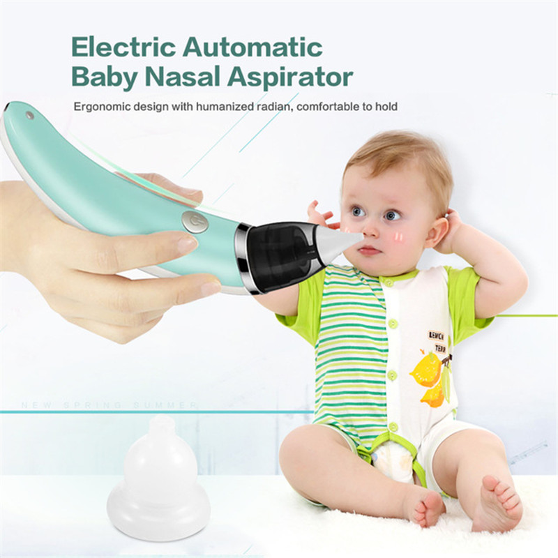 Baby Nasal Aspirator Electric Nose Cleaner Sniffling Equipment Detachable  5 Level Adjustable Nose Tips Oral Sucker For Children
