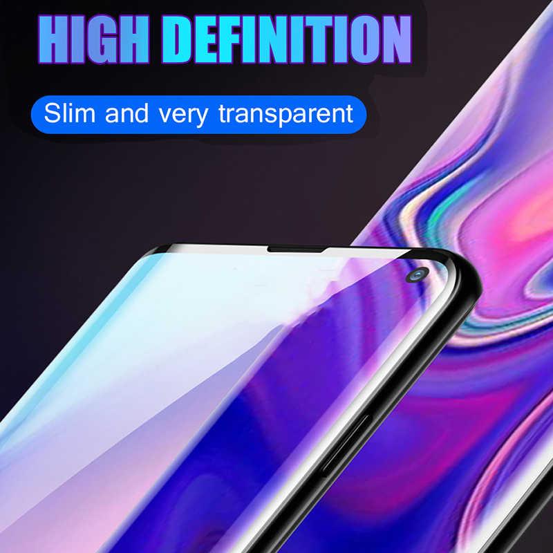 11D Bordo Arco Della Copertura Completa di Vetro Temperato Per Samsung Galaxy S10 Più S10 Lite Pellicola Della Protezione Dello Schermo Per Samsung Galaxy m10 M20 M30