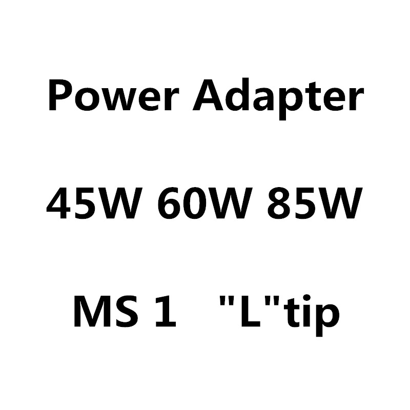 """Youpin New 45W 60W 85W MS*1 L-Tip Laptop Power Adapter Charger For Apple MacbooK Air Pro 11"""" 13"""" 15"""" 17"""""""
