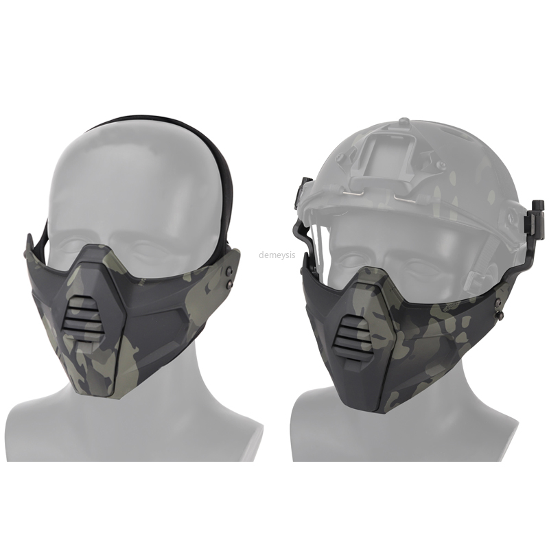 Army Military Paintball Mask Hal Face Safety Tactical Mask Hunting Helmet Mask Protective Shooting Airsoft Combat Masks