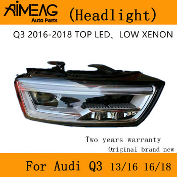 Made for 13-16 Audi Q3 headlamp assembly original factory 16-18 high matching LED low matching XENON half headlight