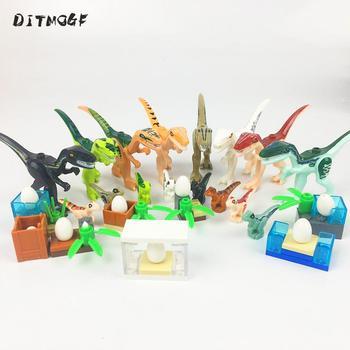 MOC Raptor Triceratops Tyrannosaurus rex Heavy Claw Dragon Mini Jurassic Dinosaur Bricks Building Blocks toys jurassic world dinosaur heavy claw pluto dragon tyrannosaurus rex indominus dilophosaurus building blocks bricks toys for kids