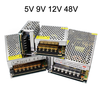5V 9V 12V 48V Power Supply 1A 2A 3A 5A 6A 8A 10A 12A 15A 20A 25A 30A 40A 50A 12 Volt LED cctv Power Supply Transformer 220V smps image