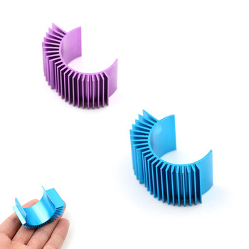 Blue/Purple Motor Cooling Heat Sink Heatsink Top Vented 540 545 550 For 1/10 RC Cars Buggy Monster Truck Short Course Crawler image