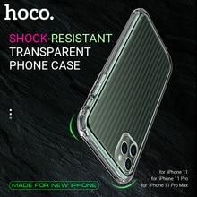 HOCO โปร่งใสสำหรับ iPhone 11 11Pro 11 PRO MAX CLEAR กรณี TPU โทรศัพท์ป้องกันด้านหลังป้องกันฝาครอบ