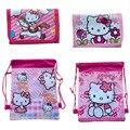 Милый кошелек 1 шт., экшн-фигурки розового кота, нейлоновая сумка с мультяшным котом, цветная печать, товары для дня рождения, детский подарок...