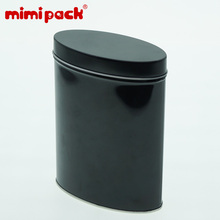 mimipack 12pcs Metal Oval Tin Cans Black Sundries Storage Boxes