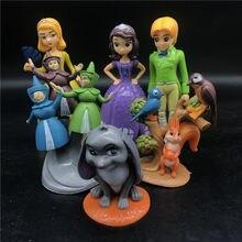 6pcs/set 8-13cm Sofia princess Action Figure Anime Decoration PVC Collection Figurine Toy model for children недорого