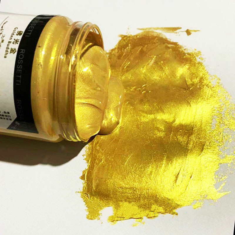 300ml Golden Acrylic Paint Buddha Statue High-end Outdoor  Waterproof Gold  Paint Glitter Paint DIY Painted Acrylic Paint