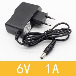 1PCS 6V1A New AC 100V-240V Converter Adapter DC 6V 1A 1000mA Power Supply EU Plug DC 5.5mm x 2.1mm