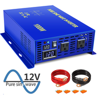 XYZ INVT 1000 watt Power Inverter Home Use Pure Sine Wave 12v 24v 36v 48v dc to ac 120v 240V for car RV with US UK EU Plug