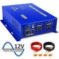 Xyz invt 1000 watts inversor de energia uso doméstico onda senoidal pura 12v 24v 36v 48v dc para ac 120v 240 v para carro rv com eua reino unido plugue da ue