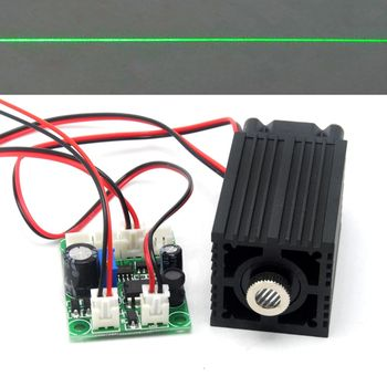 цена на 33mm*50mm Adjusted 532nm Green 80mw-100mW Line Positioning Laser Diode Module Focusable 12V Driver TTL