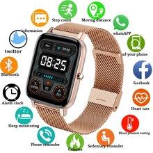 חכם שעון נשים Bluetooth שיחת תזכורת מד צעדים שעונים גברים ספורט כושר Tracker קצב לב מותג Smartwatch תומך טלפון