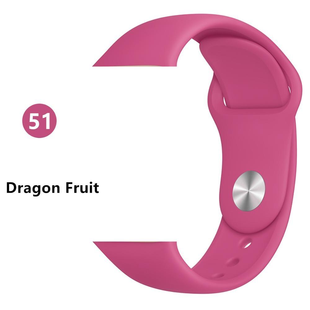 Ремешок для apple watch band 44 мм/40 мм iwatch band 5 4 42 мм 38 мм correa pulseira watch band для apple watch 5 4 3 браслет 44 мм - Цвет ремешка: Dragon Fruit
