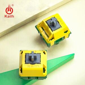 Image 1 - Kailh canário interruptor de teclado mecânico avançado tátil hangfeeling mx interruptor 5pin pom material auto lubrificante