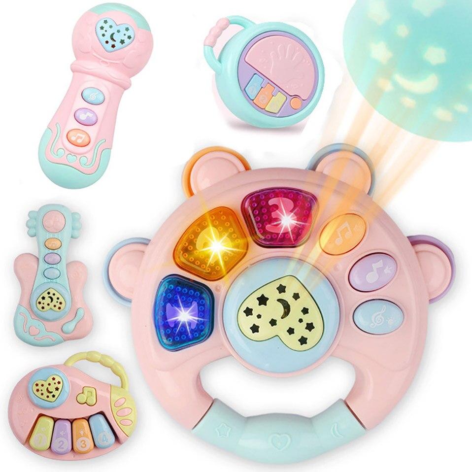 Bebê chocalhos brinquedos recém-nascidos sinos de mão brinquedos do bebê 0-12 meses infantil digital gráfico cognição cedo brinquedos educativos para crianças