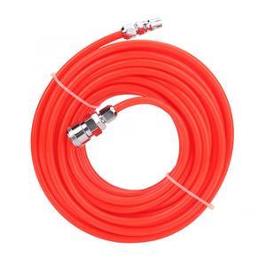 Image 3 - 5*8mm 고압 유연한 공기 압축기 호스 남성/여성 빠른 커넥터 15 m 빨간색 공기 호스