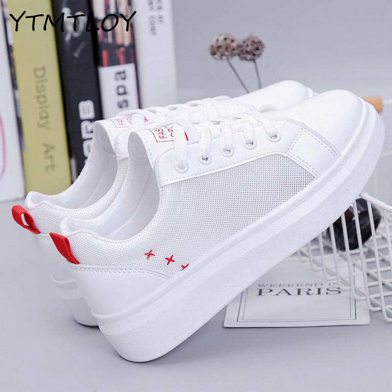 Sneakers Women Fashion Breathable Summer Casual Shoes  Leisure Flat White Canvas Women's Vulcanize Shoes New Zapatillas Mujer