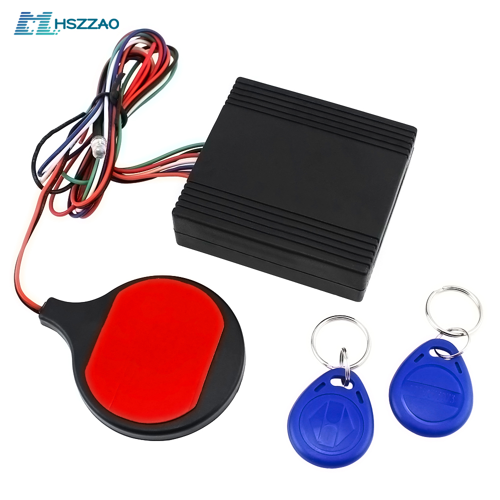Motorcycle Anti-theft Wireless Lock ID Card Sensing Invisible Built-in Lock Theft Protection Device Smart Sensor Refitting