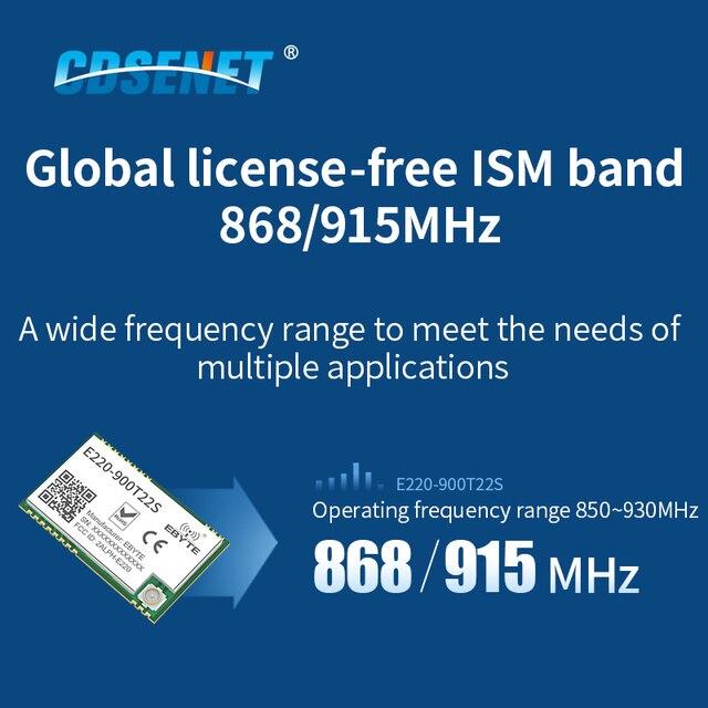 LLCC68 LoRa 868MHz Module 915MHz 22dBm Long Range IPEX/Stamp Hole UART WOR Wireless Transmitter Receiver CDSENET E220-900T22S 5
