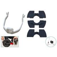 3 pces amortecedores de vibração de borracha e traseiro fender suporte quadro proteção para xiaomi mijia m365/pro scooter elétrico|Pneus| |  -