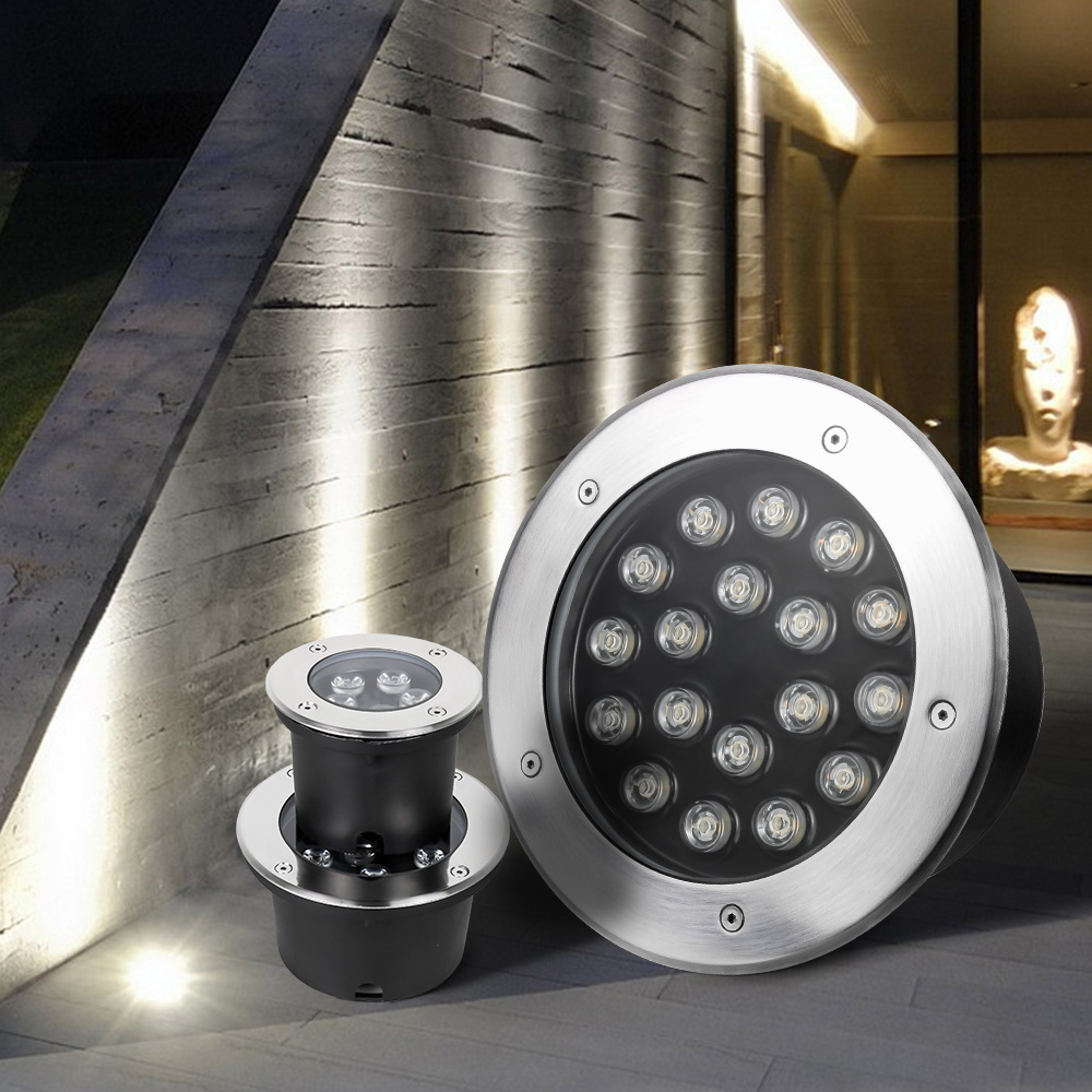 Luzes Da Escada RGB 12 V Lâmpadas de Assoalho 3 W 6 W 9 W 12 W 15 W 18 W 24 W 36 W Praça Jardim Terraço LEVOU Holofotes de Iluminação Ao Ar Livre Passo luz