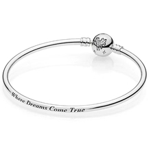 2019 nouveau 100% 925 en argent Sterling Original beau Bracelet où les rêves deviennent réalité Bracelet à cordes envoyer fille bijoux de mode cadeau
