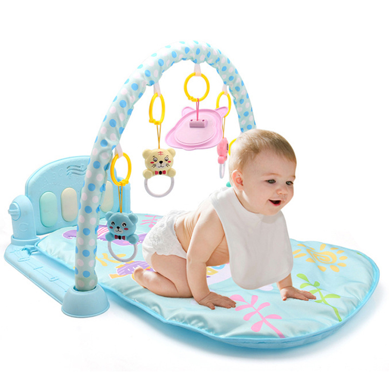 New Baby Activity Gym Pedal Piano Newborn Fitness Equipment Animal Baby Play Mat Rattle Toy Baby Sleeping Crawling Mat Toys