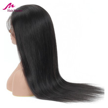 Transparent Lace Wig Humain Hair Brazilian Straight Front HD Human Wigs Closure Remy