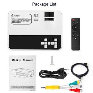 Image 4 - Ub10/ub10wifi (android 6.0) 2000lumens mini led tv cinema em casa projetor multimídia lcd proyector 3d beamer suporte hd 1080 p