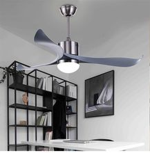 Nordic fashion simplicity Ceiling Fan With Lights Remote Dimming Control Ventilador De Techo Fan LED Light Bedroom ceiling fans cheap Bing Vision iron Remote Control Copper STAINLESS STEEL Contemporary Wedge